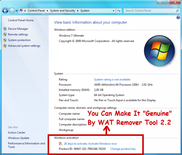 windows 7 genuine remover download
